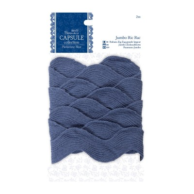 Fita Tecido Ric Rac Jumbo 2 m by Papermania - Capsule Collection 'Parisienne Blue'