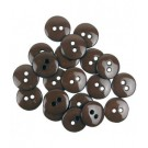 Sortido Botoes Colors 15 mm (20 unds.) by Efco - Brown
