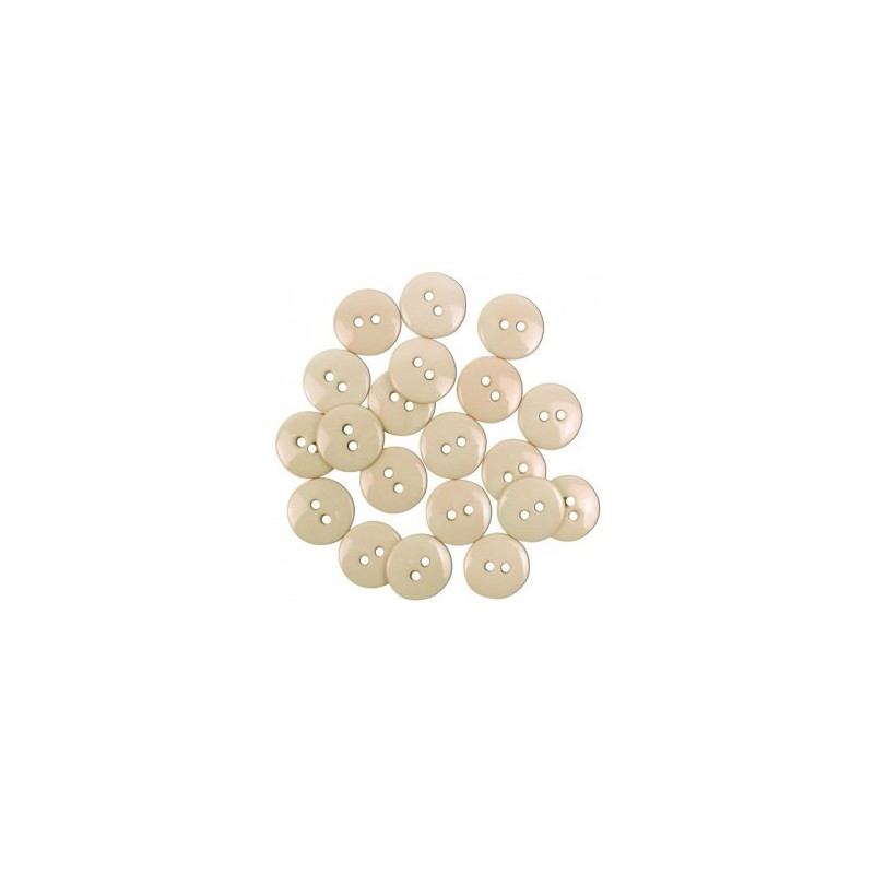 Sortido Botoes Colors 15 mm (20 unds.) by Efco - Cream