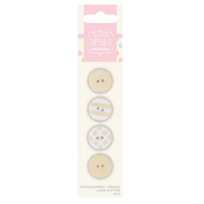 Botones Grandes (4 Unidad) Capsule S&S Pastels Pink