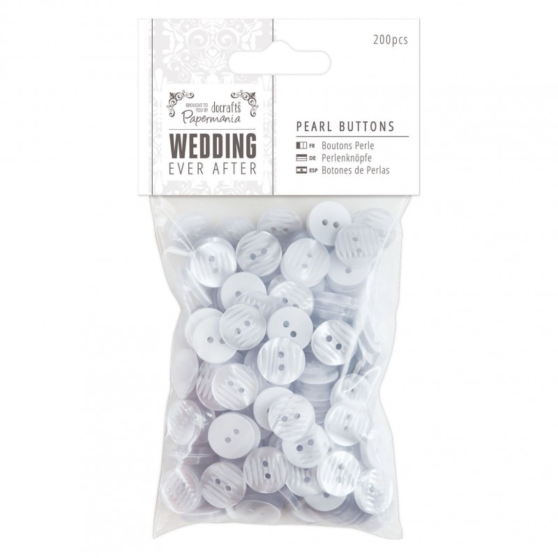 Pearl Buttons (200pcs) - Wedding