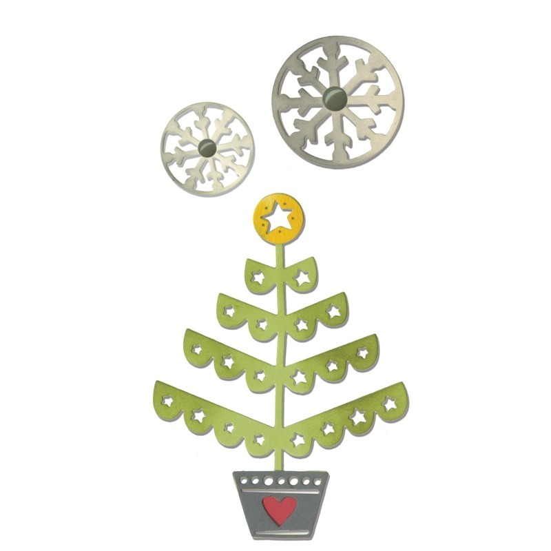 Sizzix Cortante Thinlits Christmas Tree & Snowflakes (3 unds.) by Debi Potter
