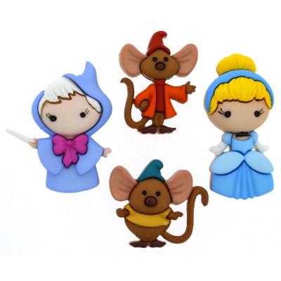 """Surtido de Botones """"Disney Cinderella"""" by Dress It Up"""