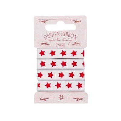Fita 10 mm/ 2 m - Estrelas Vermelhas by Tilda