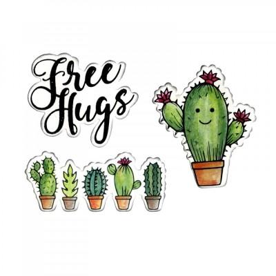 Troquel Sizzix Framelits c/ Sello (3 pcs) Sending Hugs by Jen Long