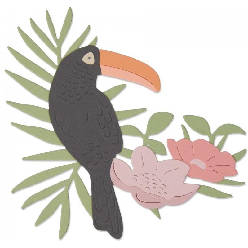 Troquel Sizzix Thinlits Tropical Bird by Sophie Guilar