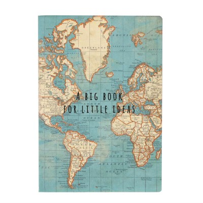 A5 Notebook Vintage Map