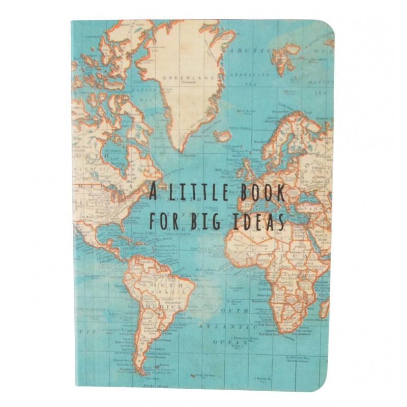 Caderno de Bolso Vintage Map