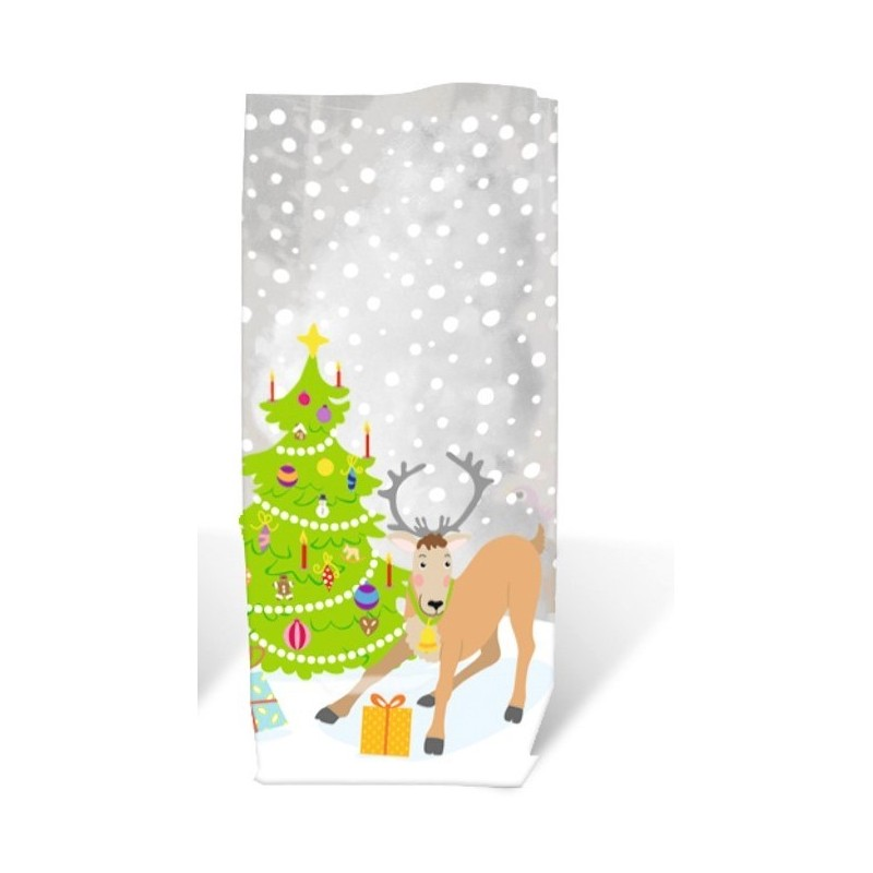 Set of 10 Candy Bags Large Reindeers