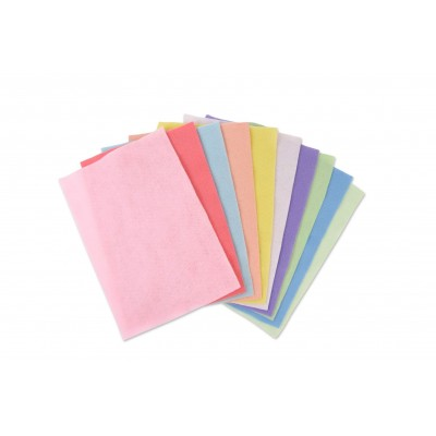 10 Felt Sheets (10 colours pastels)