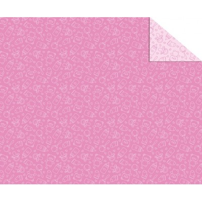 Cartolina Dupla Face (49,5 x 68 cm) Ursos Rosa