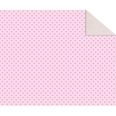 "Double Sided Cardboard (19 1/2"" x 26 4/5"") Pink Hearts"