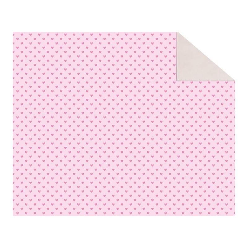 Cartolina Dupla Face (49,5 x 68 cm) Corações Rosa