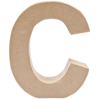 """Letra Cartão """"C"""" 17 cm"""