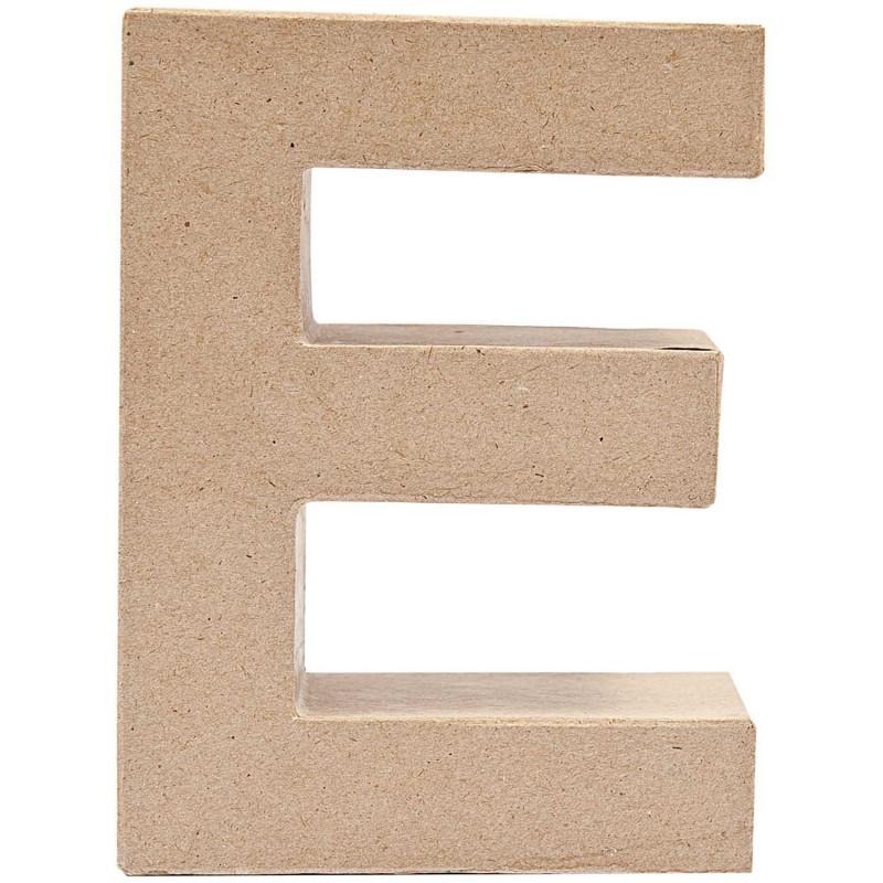 """Letra Cartão """"E"""" 17 cm"""