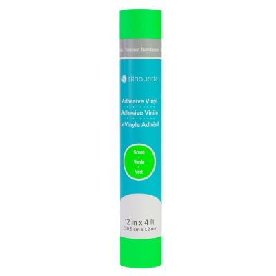Vinilo Translúcido Texturizado c/ Adhesivo Permanente - Verde