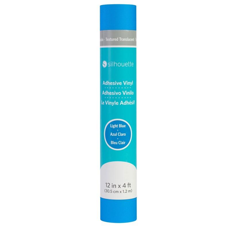 Vinilo Translúcido Texturizado c/ Adhesivo Permanente - Azul Claro