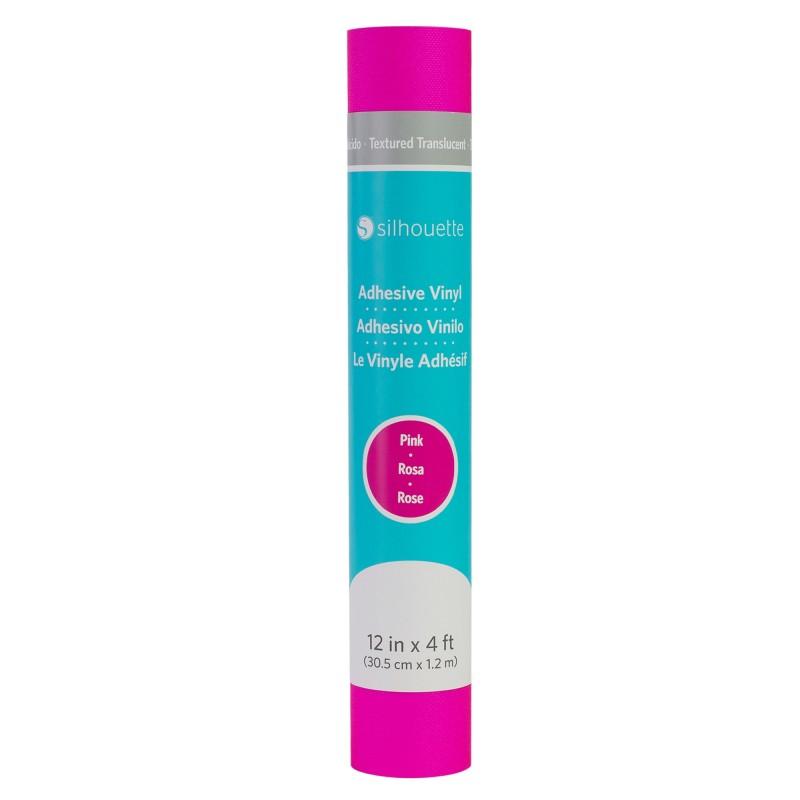 Vinilo Translúcido Texturizado c/ Adhesivo Permanente - Rosa