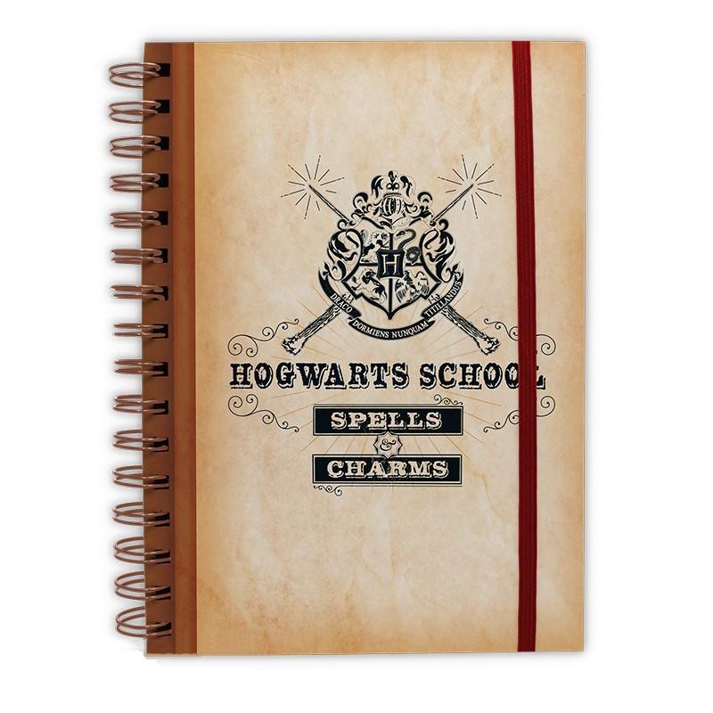 A5 Spiral Notebook Hogwarts School