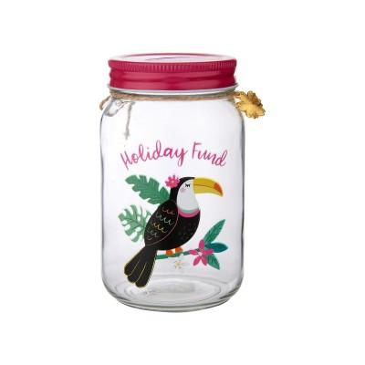 "Money Jar ""Tiki Toucan"""