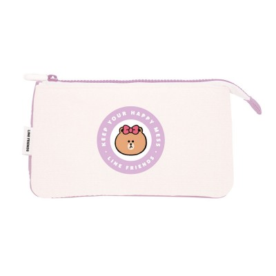 Triple Pencilcase Line Friends