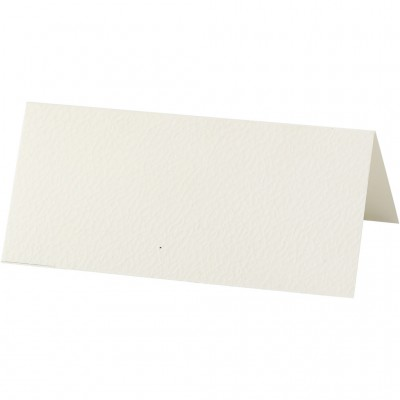 Set of 10 Cream Cards/Table...
