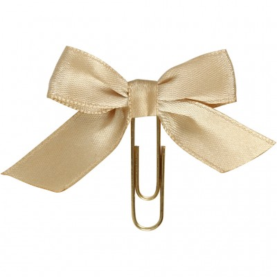 Set of 5 Clips w/ Gold Bow