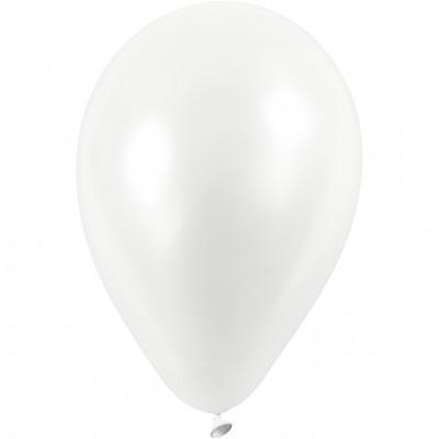 Set of 10 White Balloons