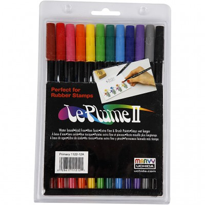 Set of 12 Markers - Bright...