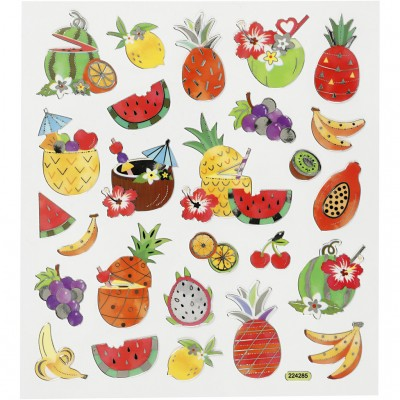 Stickers Exotic Fruits