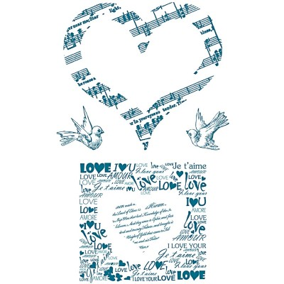 Silicone Stamp Love