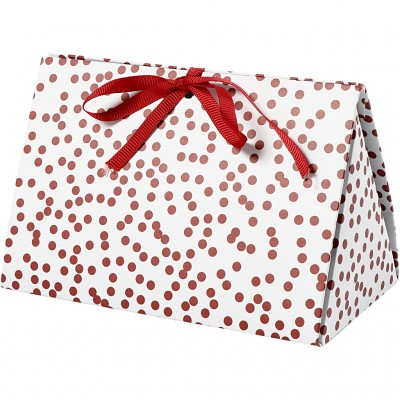 Set of 5 Gift Boxes Red Dots