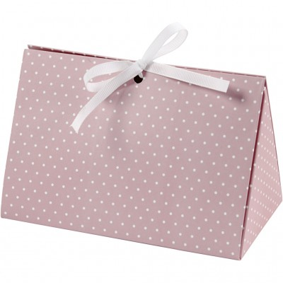 Set of 5 Gift Boxes Pink w/...