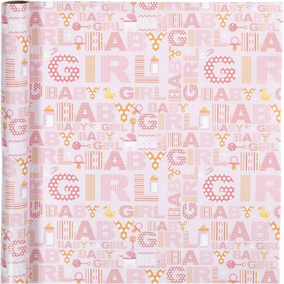 Gift Wrapping Paper Pink Baby