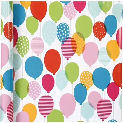Gift Wrapping Paper Balloons
