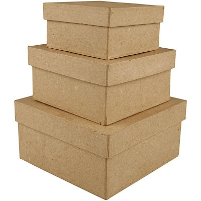 Set of 3 Square Boxes