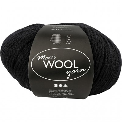 125 m Wool Yarn - Black