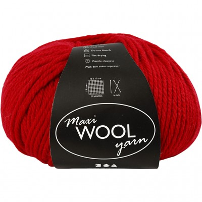 125 m Wool Yarn - Red