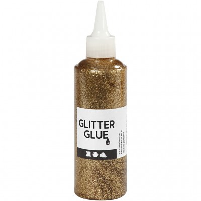 118 ml Glitter Glue - Gold