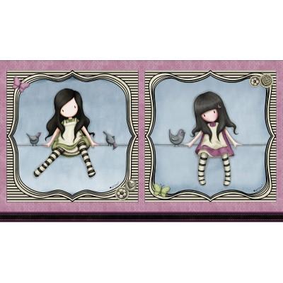 Fabric Panel 2 Dolls