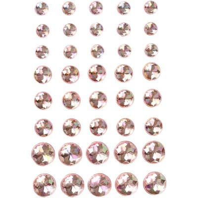 Set of 40 Adhesive Strass Pink