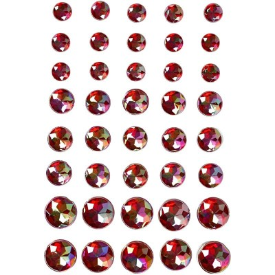Set of 40 Adhesive Strass Red