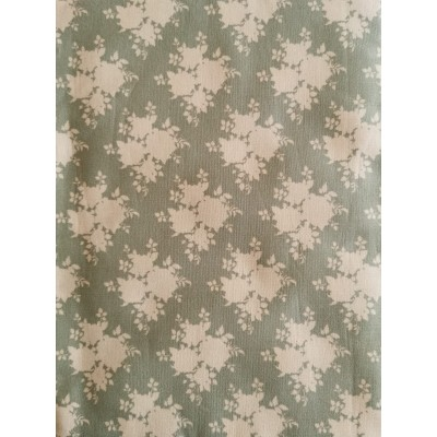 Floral Fabric w/ Green...