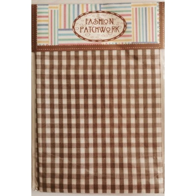 Checkered Brown Fabric