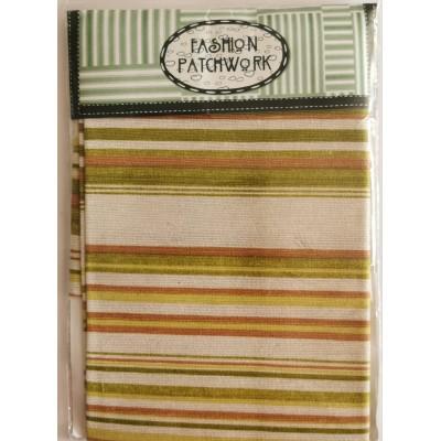 Green Strips Fabric