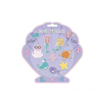 Set of 8 Erasers Mermaid