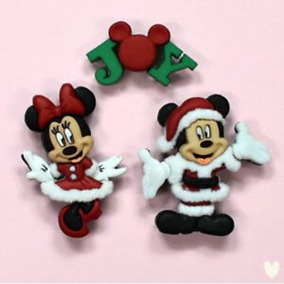 "Botões ""Mickey & Minnie Xmas"""