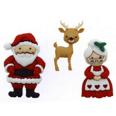 Mr and Mrs Claus Buttons by...