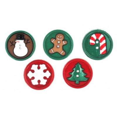 Christmas Themed Buttons...
