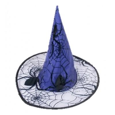 Sombrero de Bruja Negro y Azul